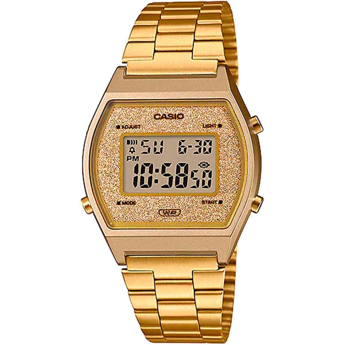 Relógio Casio Vintage Digital Feminino Dourado B640WGG-9DF