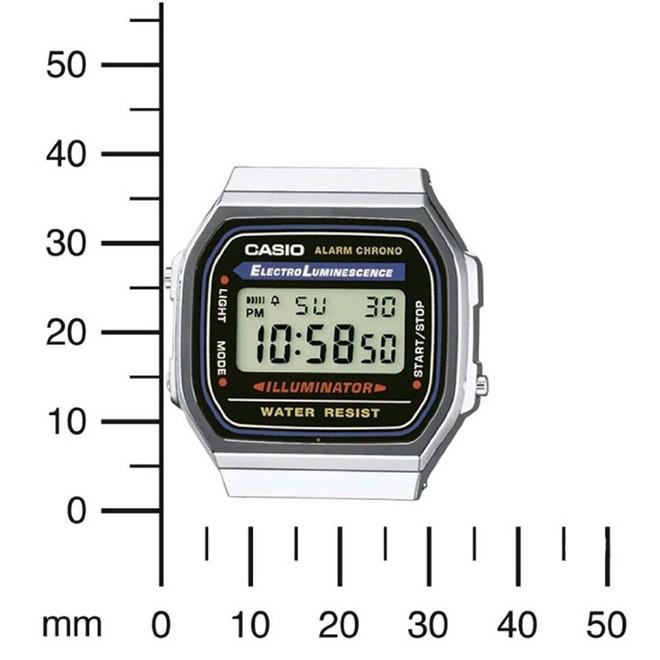 Relógio Casio Vintage Digital Unissex A168WA-1UWD