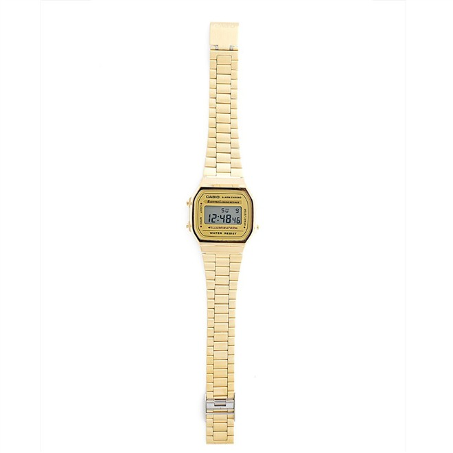Relógio Casio Vintage Gold Digital Unissex A168WG-9WDF