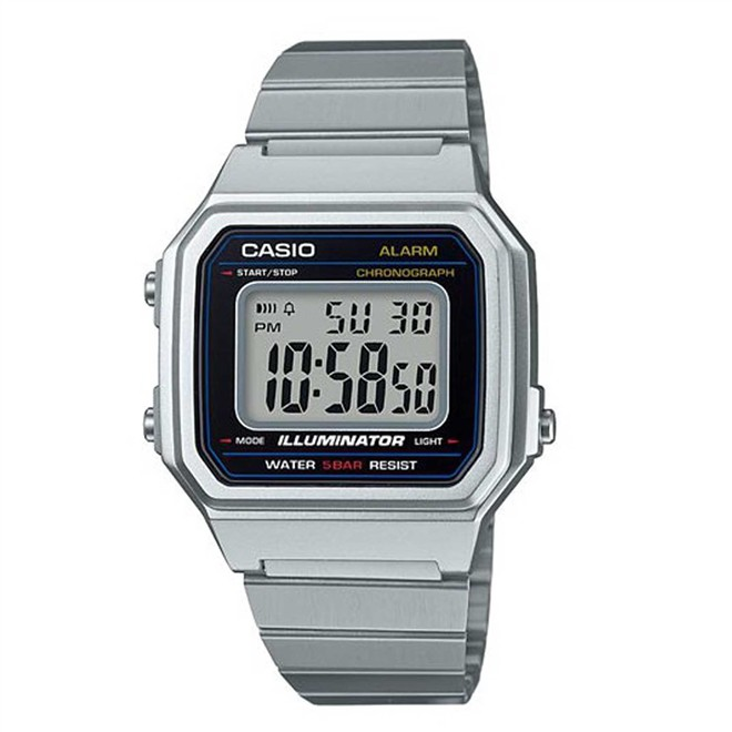 Relógio Casio Vintage Prata Digital Unissex B650WD-1ADF