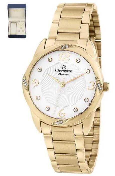 Relógio Champion Feminino Kit Semijóia CN25734W
