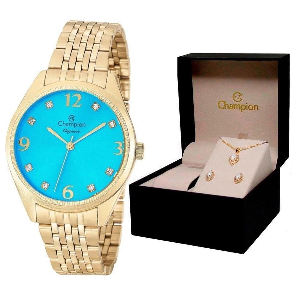 Relógio Champion Feminino Kit Semijóia CN26251Y