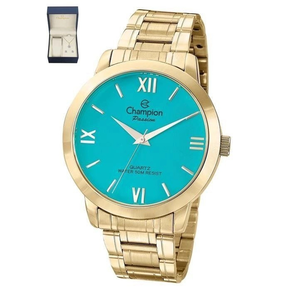 Relógio Champion Feminino Kit Semijóia CN28704Y