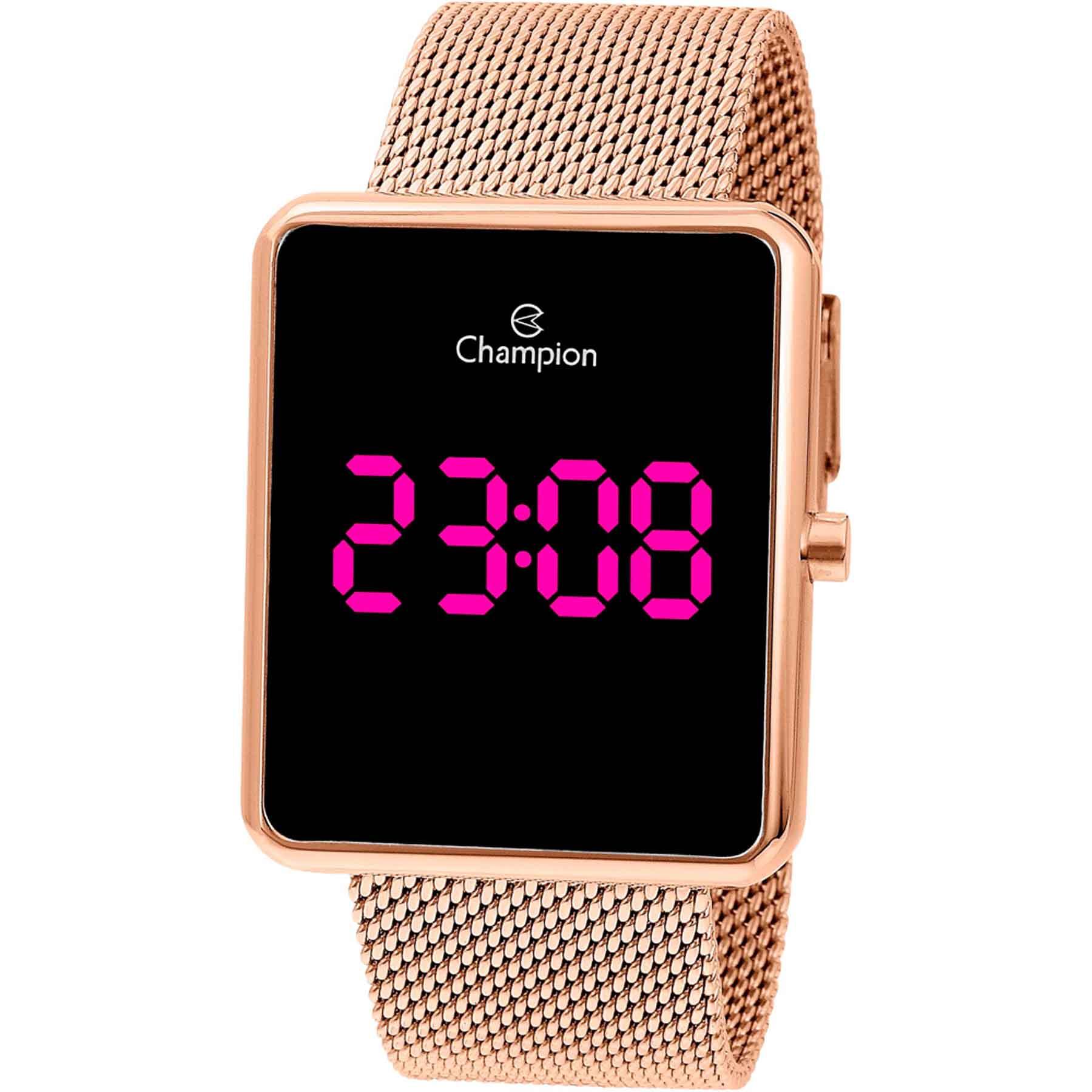Relógio Champion LED Digital Feminino CH40080H