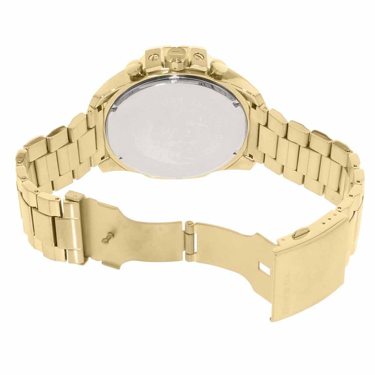 Relógio Diesel Masculino Megachief Dourado 54mm DZ4360/4DN