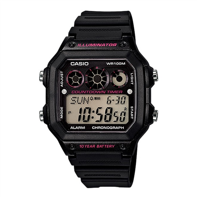 Relógio Digital Casio Masculino Esportivo AE-1300WH-1A2VDF