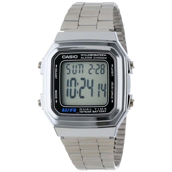 Relógio Feminino Digital Casio A178WA1AD - Prata