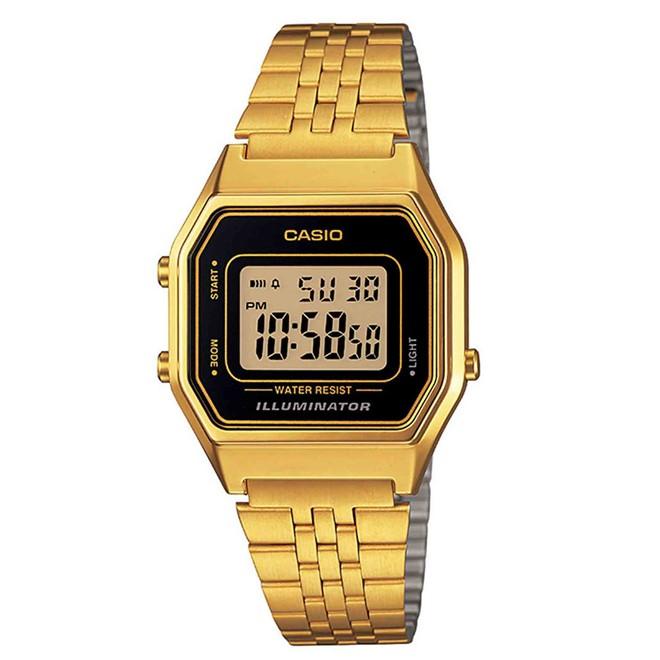 Relógio Feminino Digital Casio LA680WGA1DF - Dourado