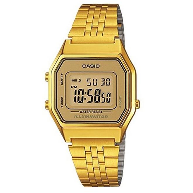 Relógio Feminino Digital Casio LA680WGA-9DF - Dourado