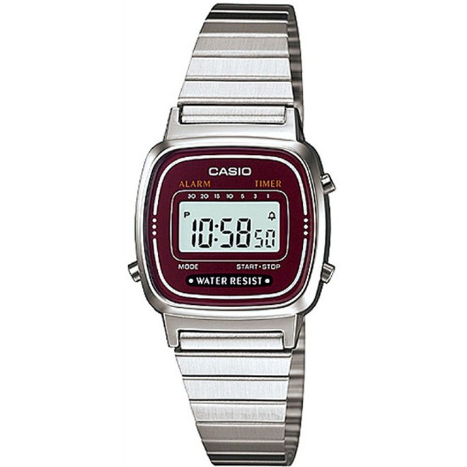 Relógio Feminino Digital Casio Vintage LA670WA-4DF - Prata