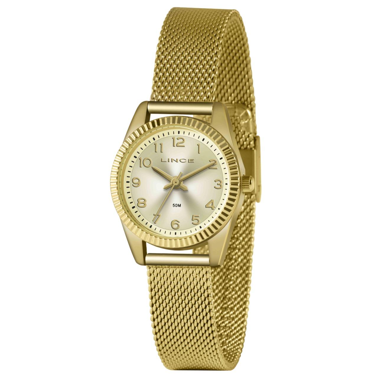 Relógio Lince Feminino Dourado LRG4674L C2KX