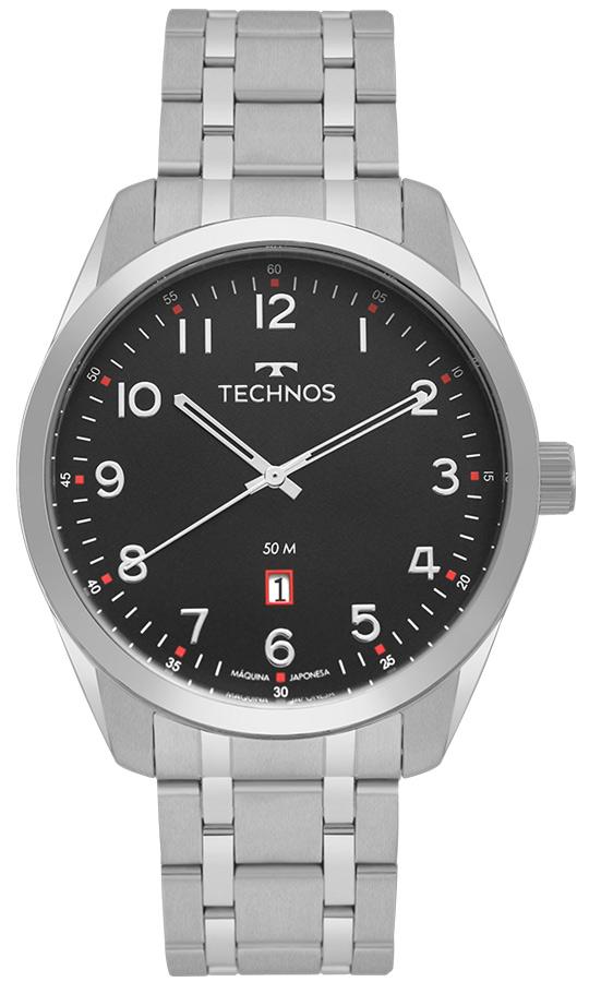 Relógio Masculino Prata Technos 2115MSAS/1P