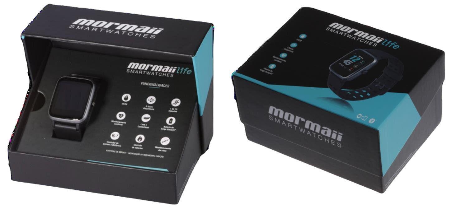 Relógio Smartwatch Mormaii Life Unissex Full Display Preto