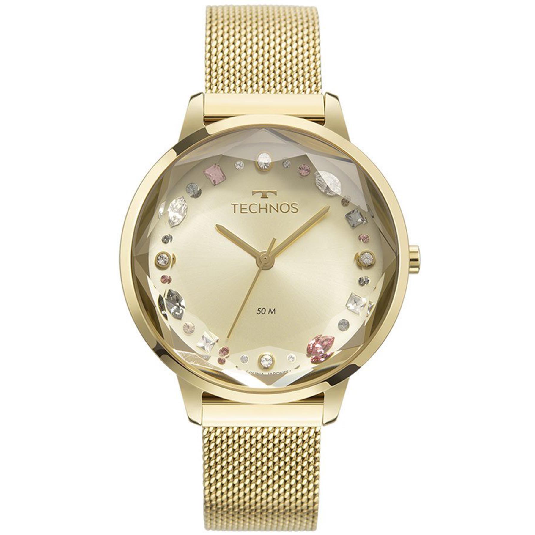 Relógio Technos Feminino Analógico Dourado 2036MMJ/1X