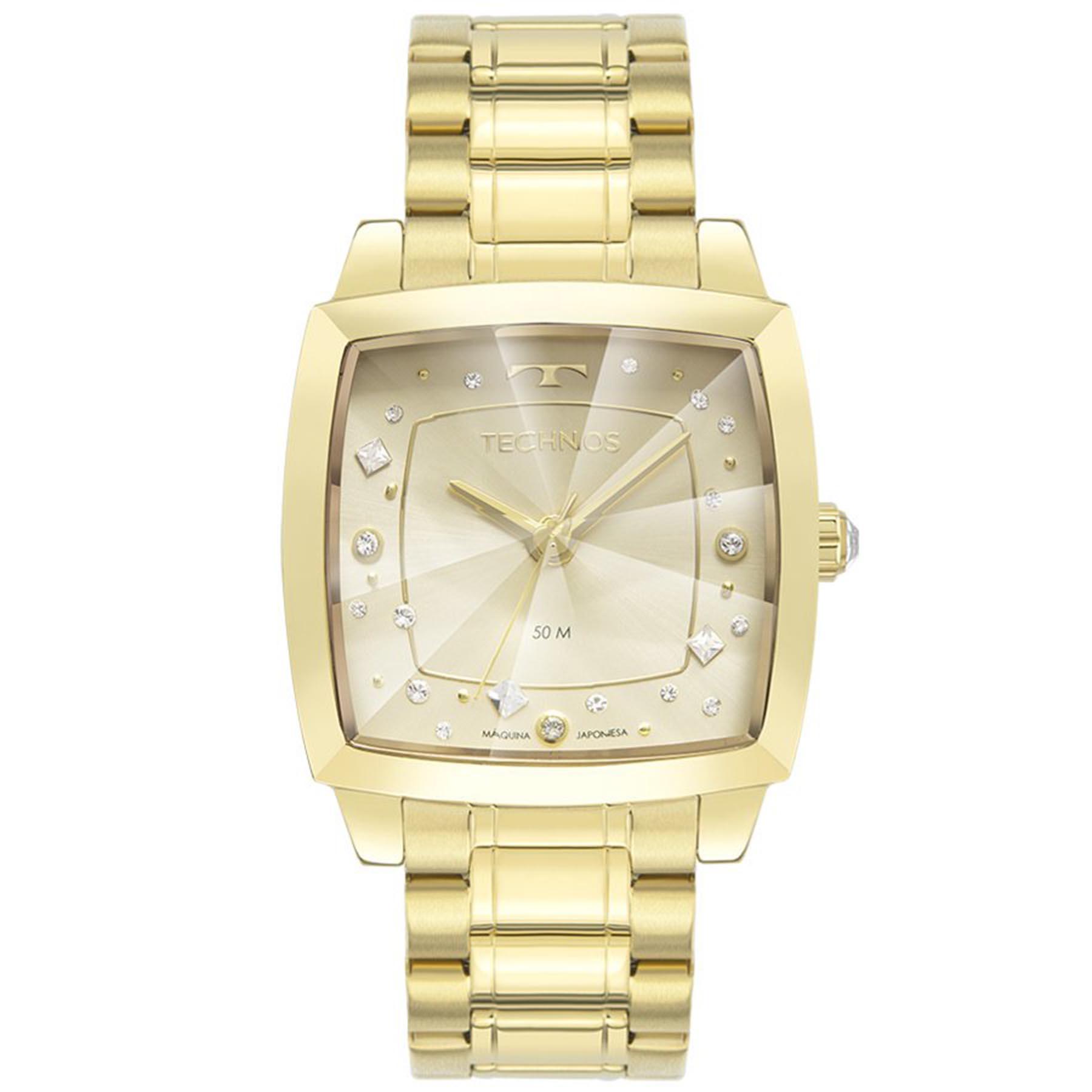 Relógio Technos Feminino Crystal Swarovski 2036MNG/1X