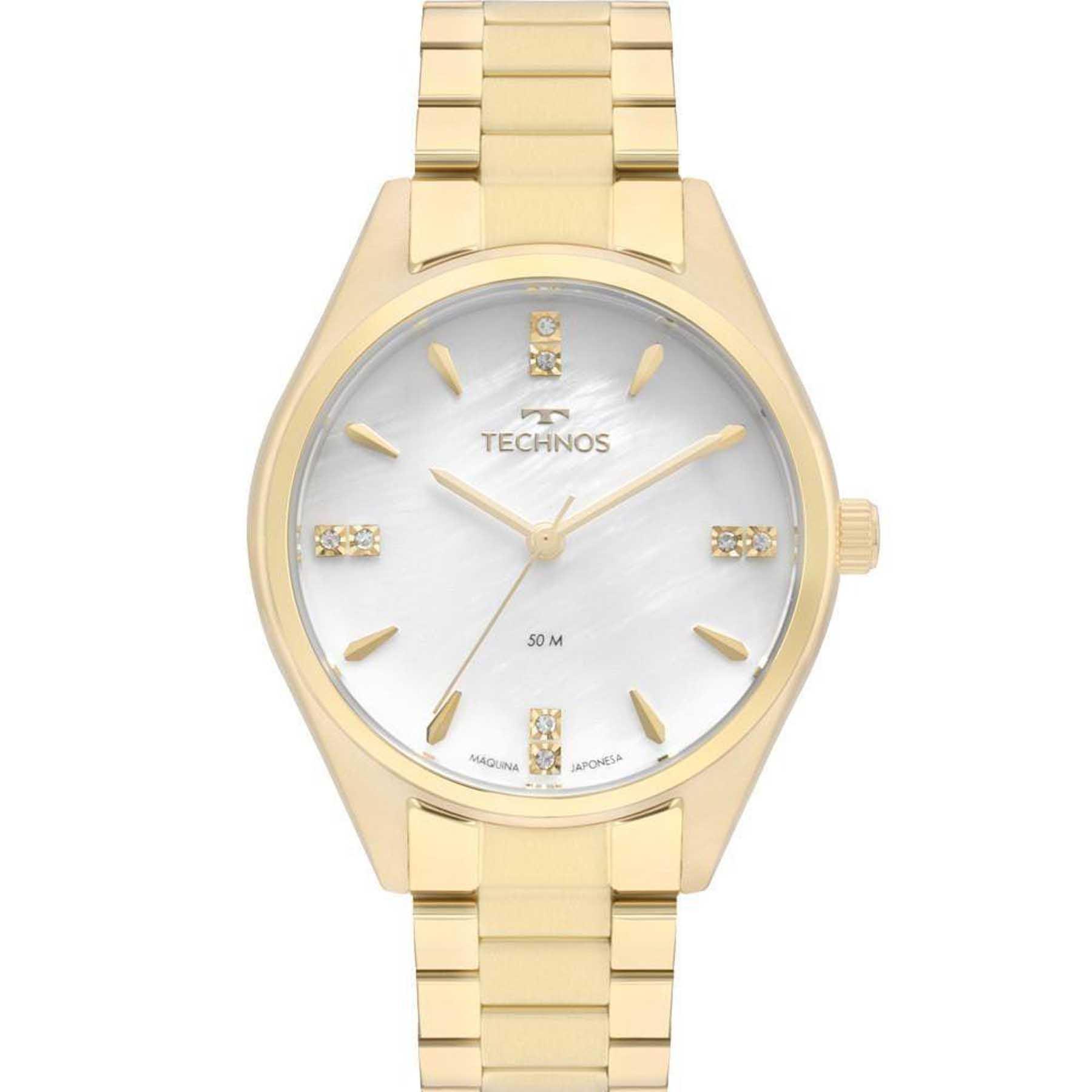 Relógio Technos Feminino Dourado 2036MKQ/4B