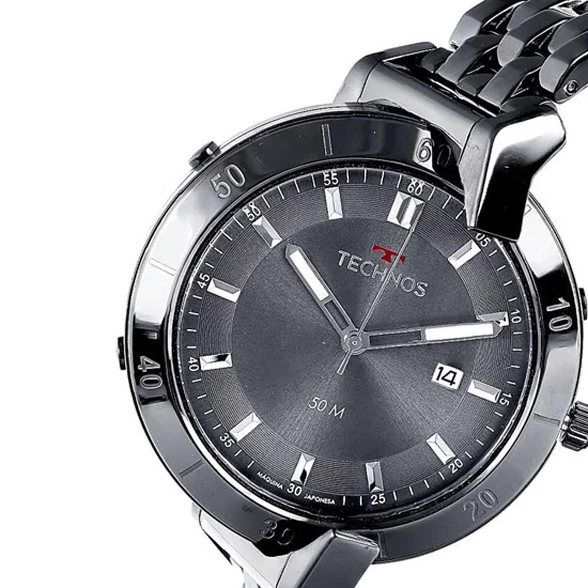 Relógio Technos Masculino Curvas Duplo Ionizado 1S13CR/4