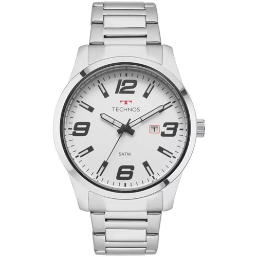 Relógio Technos Masculino Racer Prata  2115MOLS/1B