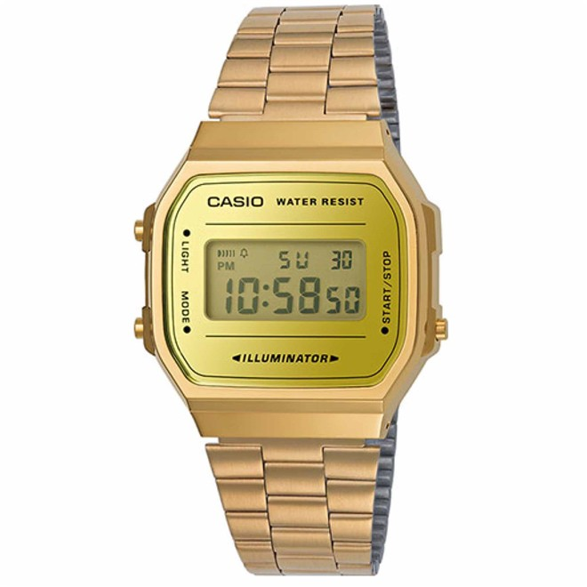 Relógio Unissex Casio Vintage A168WEGM-9DF - Dourado/Amarelo
