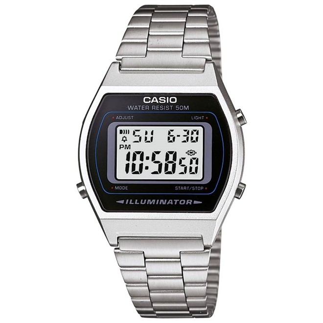 Relógio Unissex Digital Casio B640WD-1AVDF - Prata