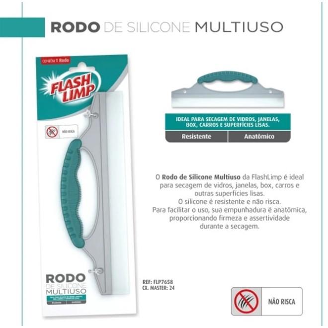 RODO DE SILICONE FLASHLIMP MULTIUSO FLP7658