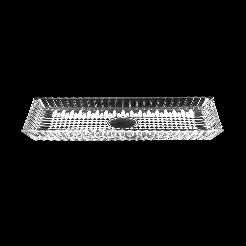 TRAVESSA CRISTAL DE CHUMBO RETANGULAR QUEEN 34x17cm