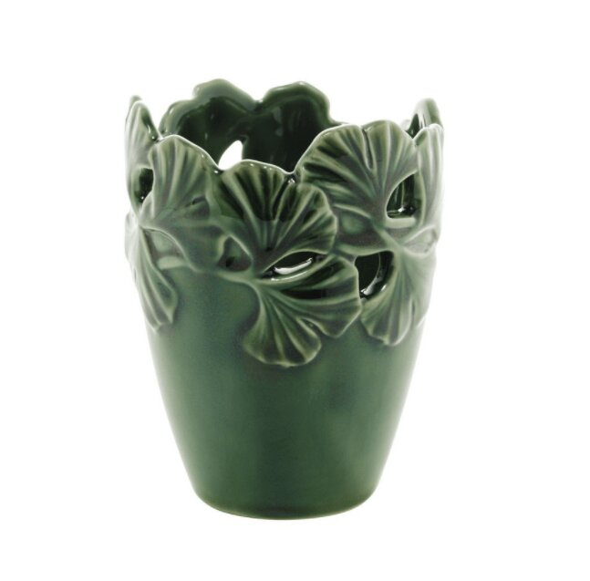 Vaso Decorativo Leaf Verde 9x12cm Rojemac