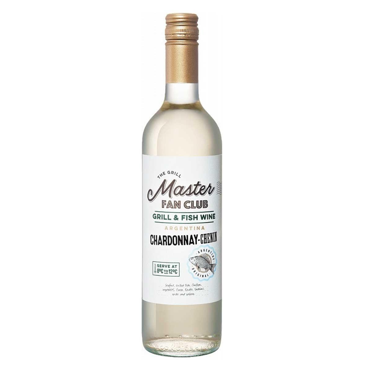 Vinho Argentino Branco Chardonnay-Chenin Grill Master 750ml