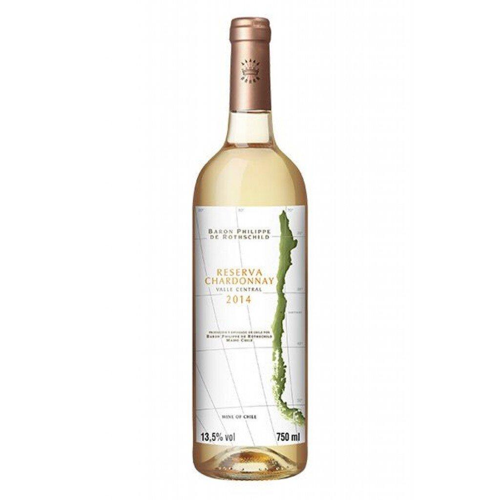 Vinho Branco Chileno Baron Philippe de Rothschild Reserv Chardonnay 2018 750ml
