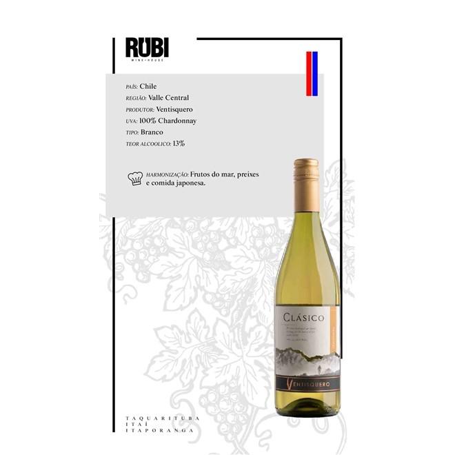 Vinho Branco Chileno Ventisquero Clássico Chardonnay 750ML