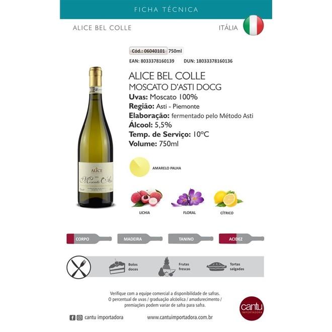Vinho Branco Italiano Alice Bel Colle Moscato D Asti 750ml