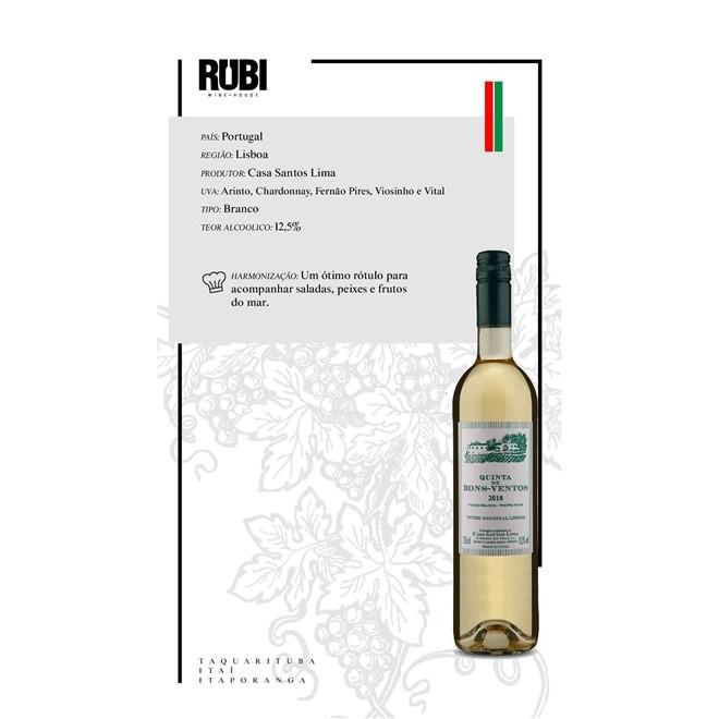 Vinho Branco Português Quinta de Bons Ventos 2018 750ml