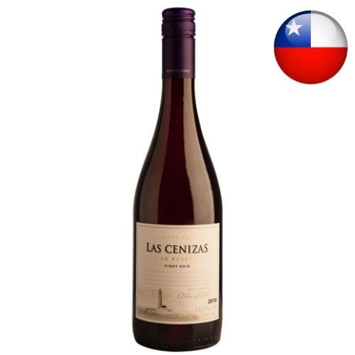 Vinho Chileno Las Cenizas Gran Reserva Pinot Noir 2018 750ml