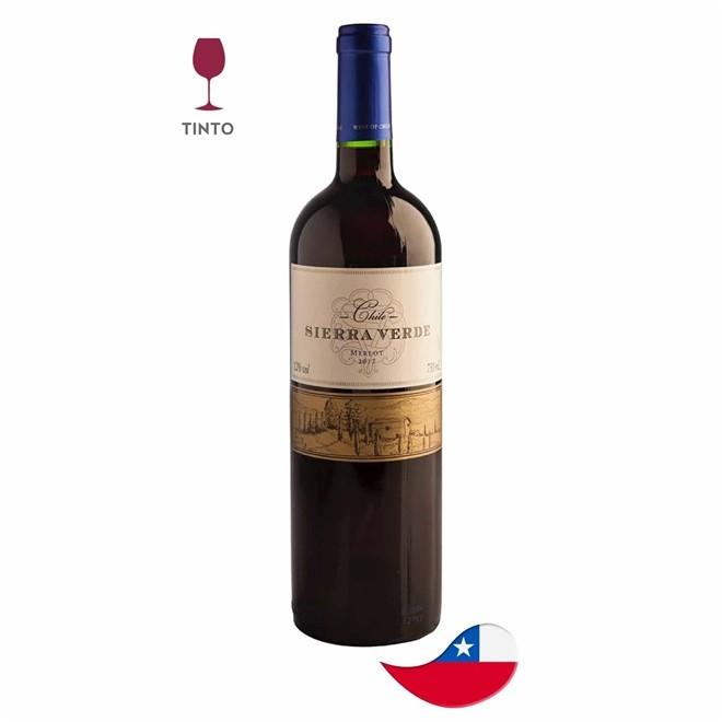 Vinho Chileno Sierra Verde Tinto Merlot 750ml