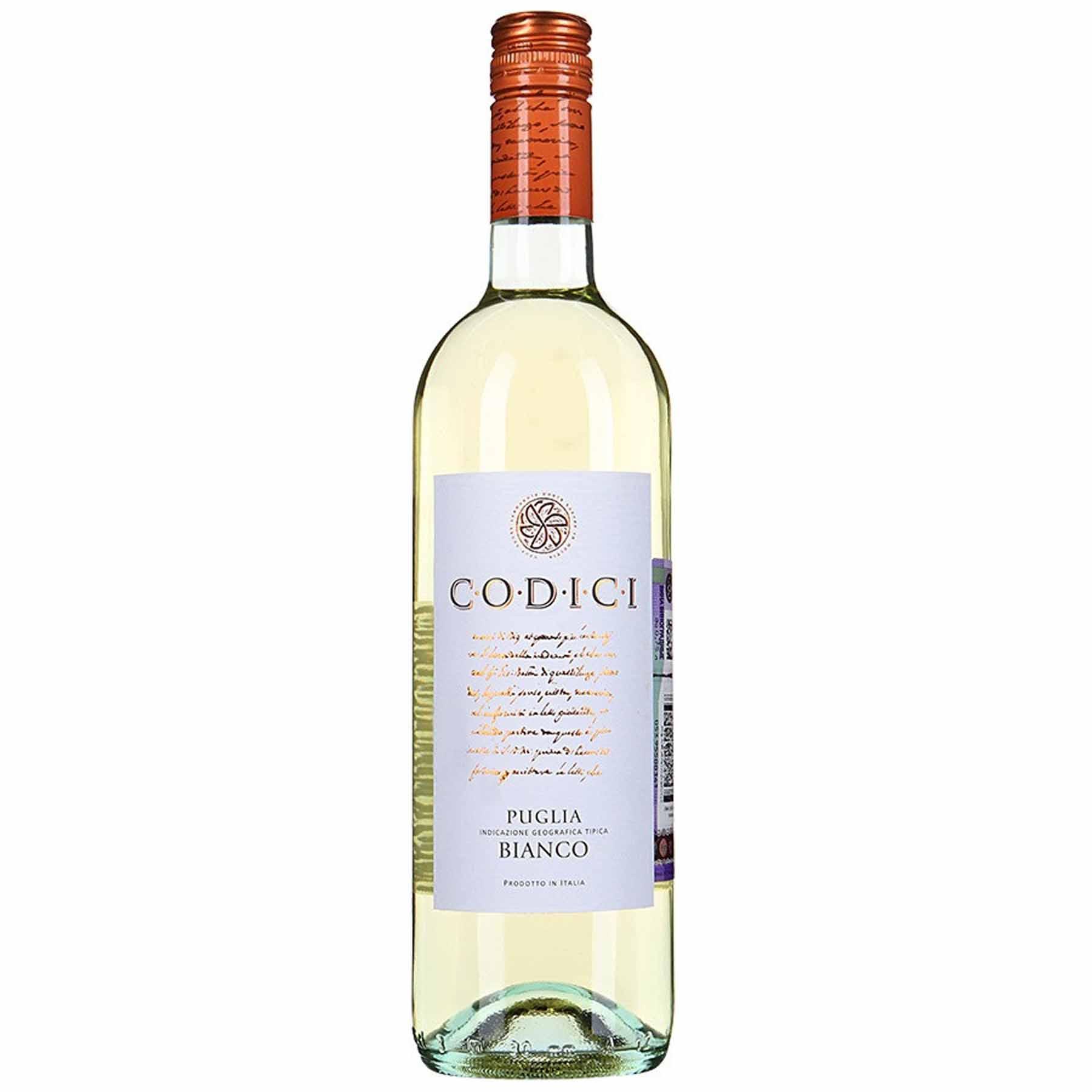 Vinho Italiano Branco Codici Bianco Puglia IGT