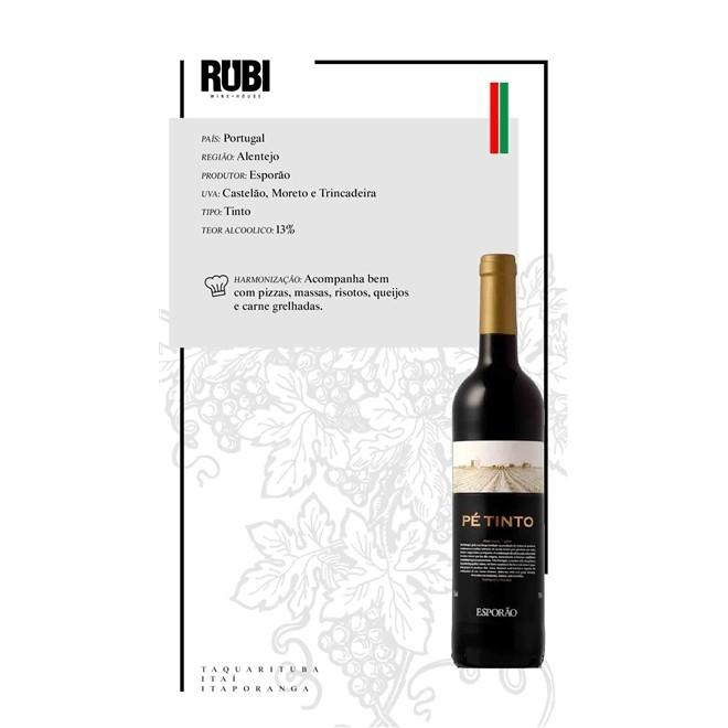 Vinho Português Tinto Esporão Pé Tinto 2018 750ml