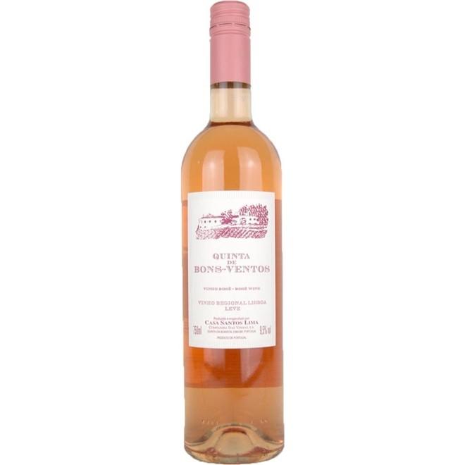 Vinho Rosé Português Quinta De Bons Ventos 750ml