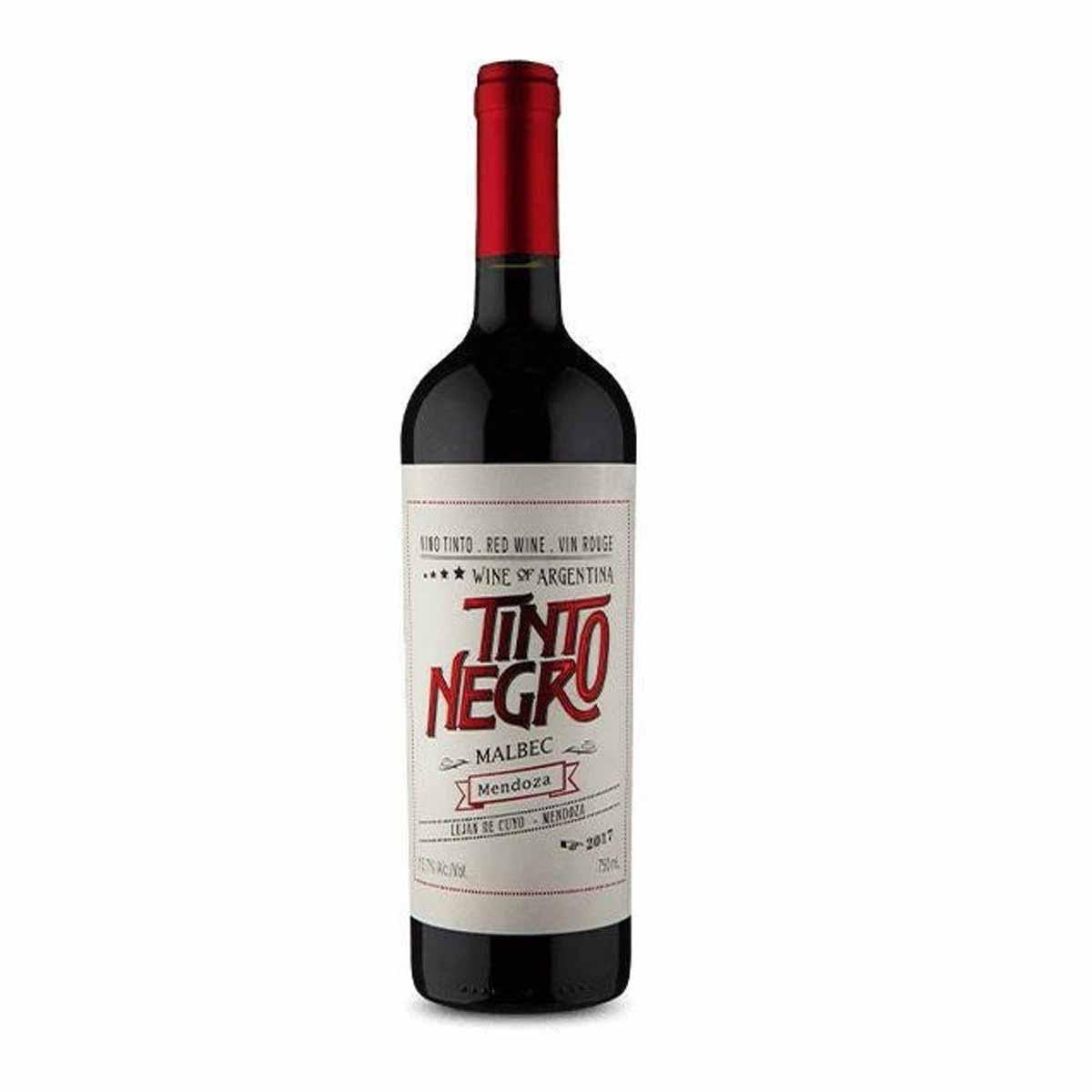 Vinho Tinto Argentino Negro Mendoza Malbec 2018