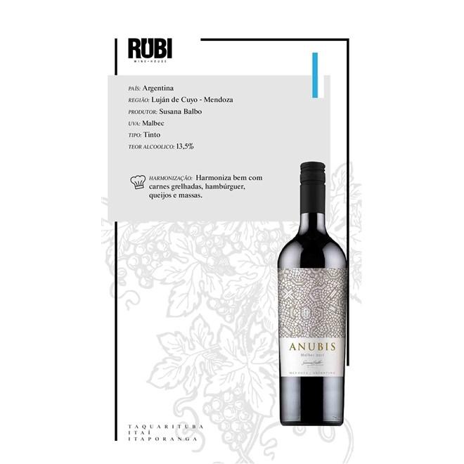 Vinho Tinto Argentino Susana Balbo Anubis Malbec 750ml