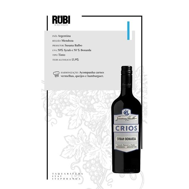 Vinho Tinto Argentino Susana Balbo Crios Syrah/Bonarda 750ml
