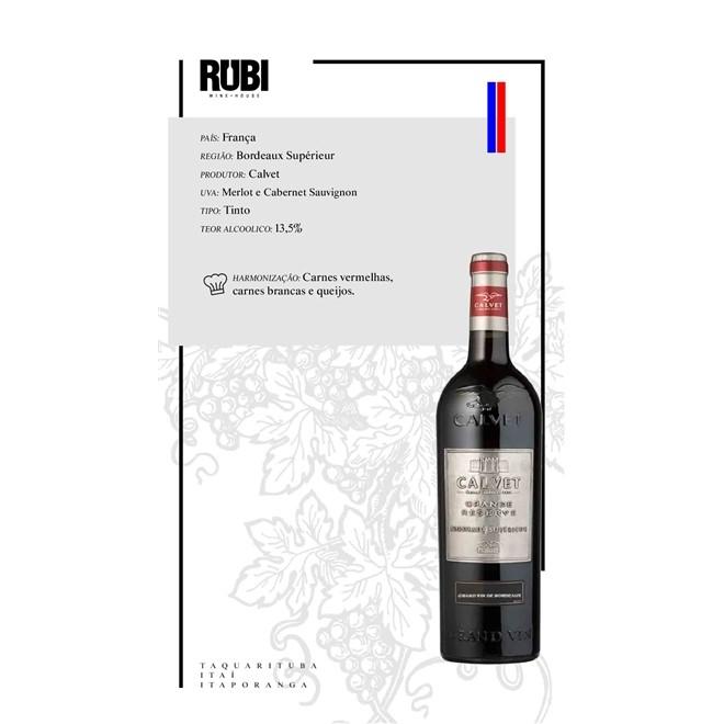 Vinho Tinto Calvet Grande Reserve Bordeaux Superieur Metal 750ml