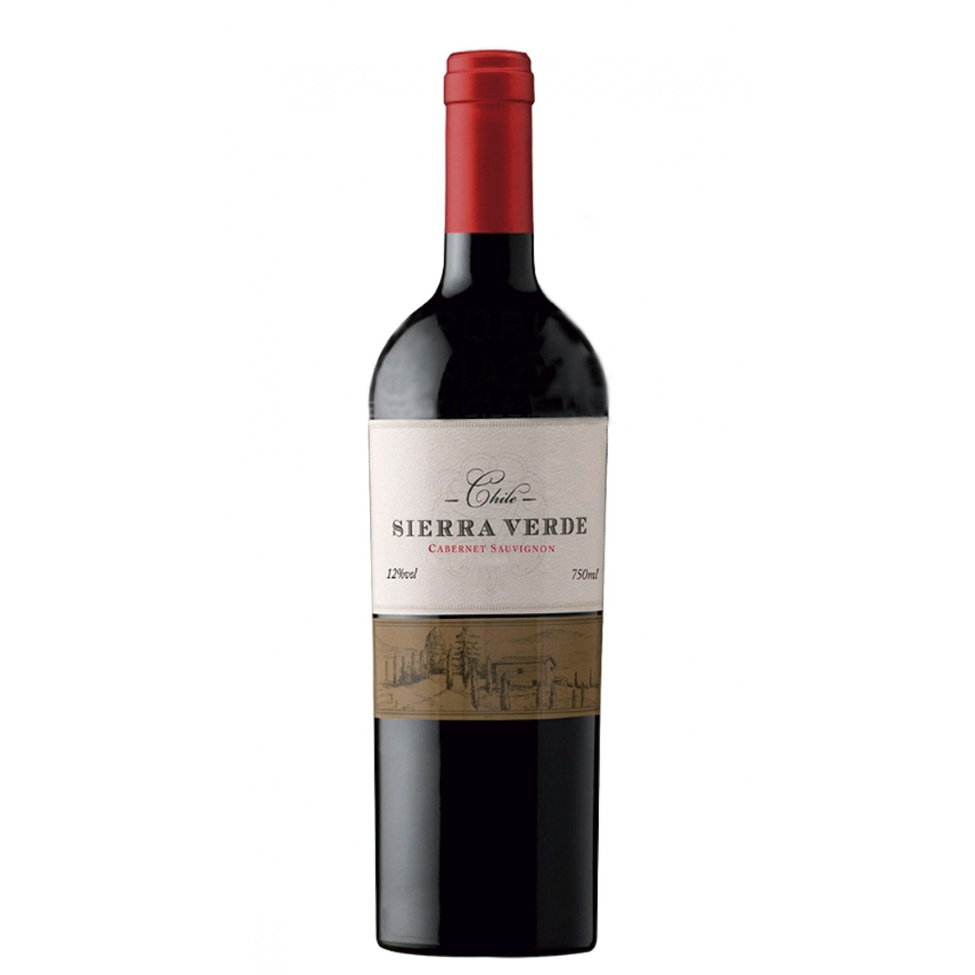 Vinho Tinto Chileno Cabernet Sauvignon Sierra Verde 2018 750ml