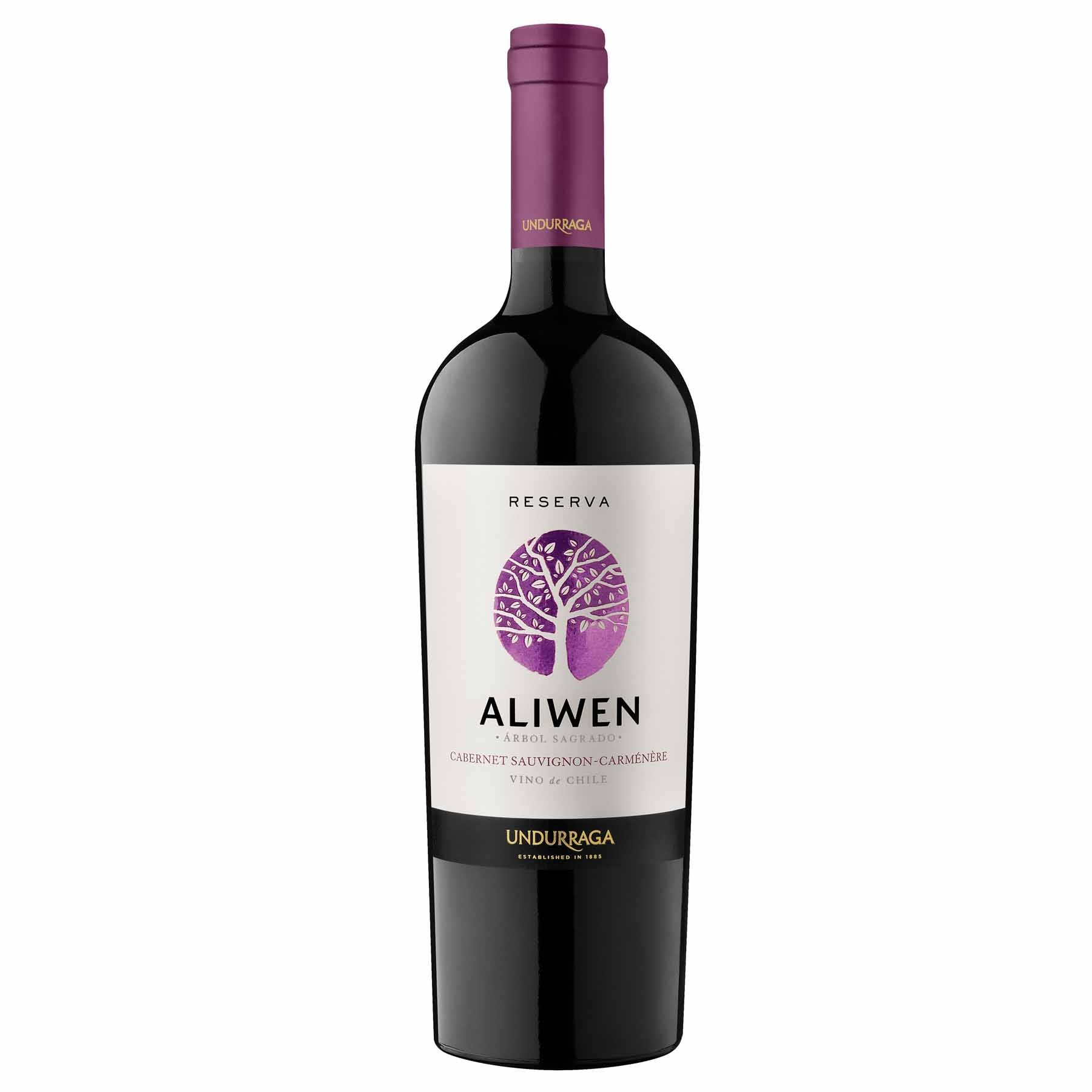 Vinho Tinto Chileno Undurraga Aliwen Reserva Cabernet-Carmenere 2014