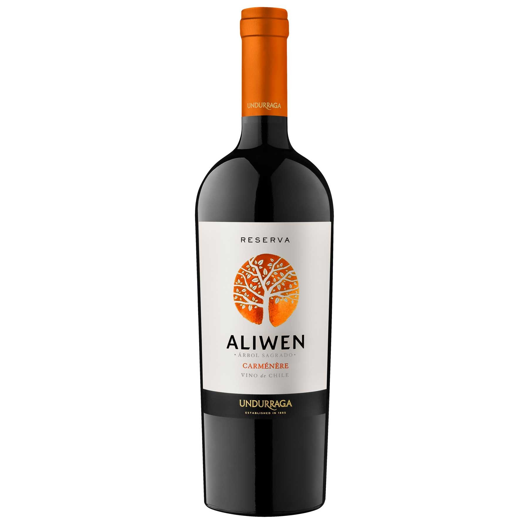 Vinho Tinto Chileno Undurraga Aliwen Reserva Carmenere 2014