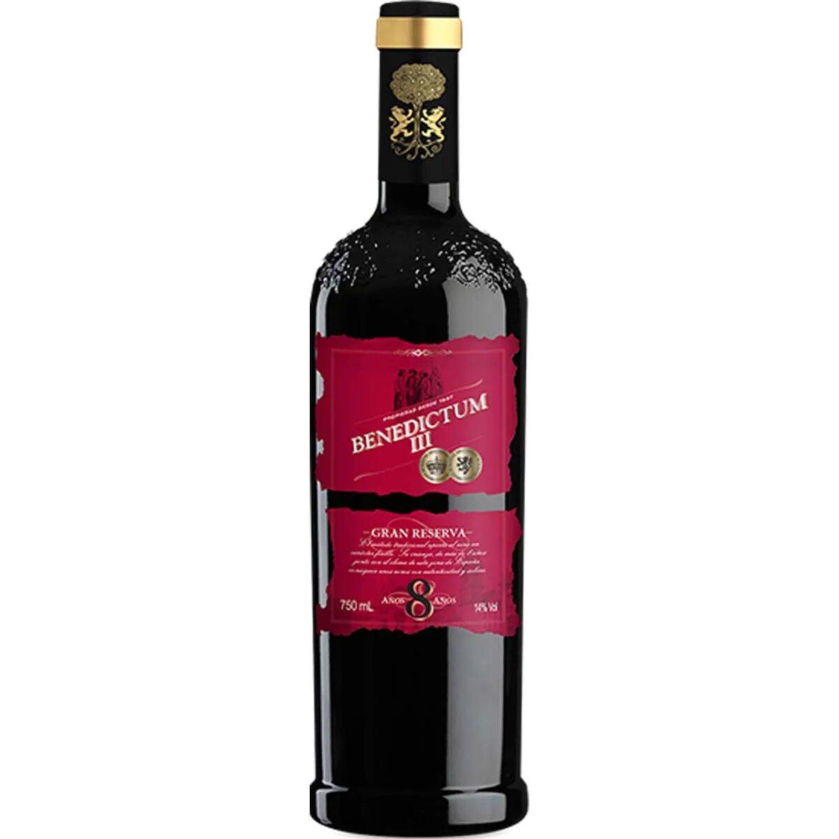 Vinho Tinto Espanhol Benedictum lll Gran Reserva 8 Anos 2010 750ml