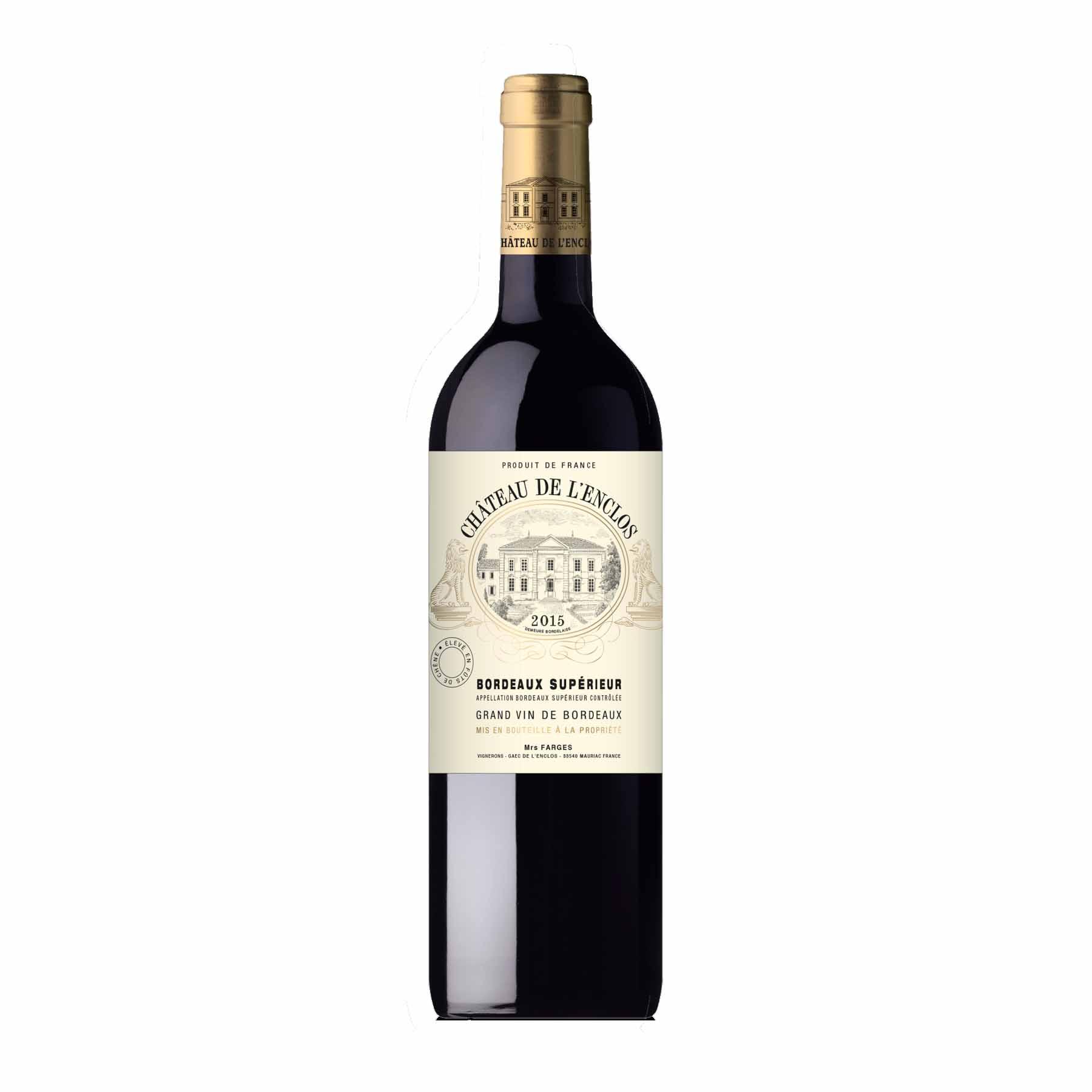 Vinho Tinto Francês Château De L'enclos Bourdeaux Supérieur 2015