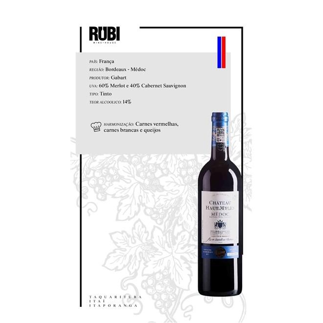 Vinho Tinto Francês Chateau Haut Myles Medoc 750ml