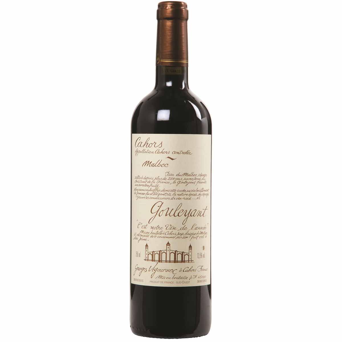 Vinho Tinto Francês Gouleyant Malbec Cahors 2018 750ml