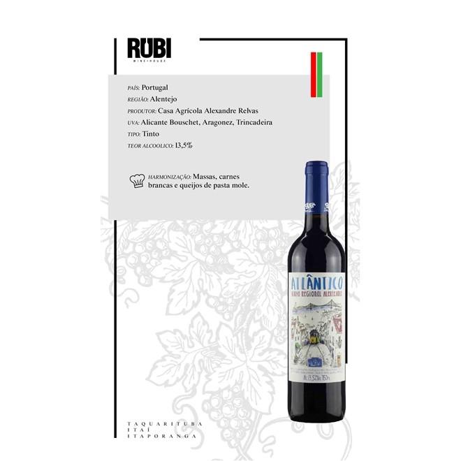 Vinho Tinto Portugues Alentejano Atlântico 750 ml