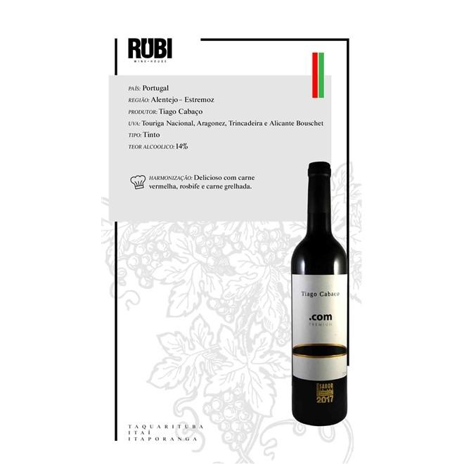 Vinho Tinto Português Tiago Cabaço .com 2018 750ml